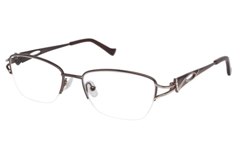 Tura R539 Eyeglasses in DBR Dark Brown