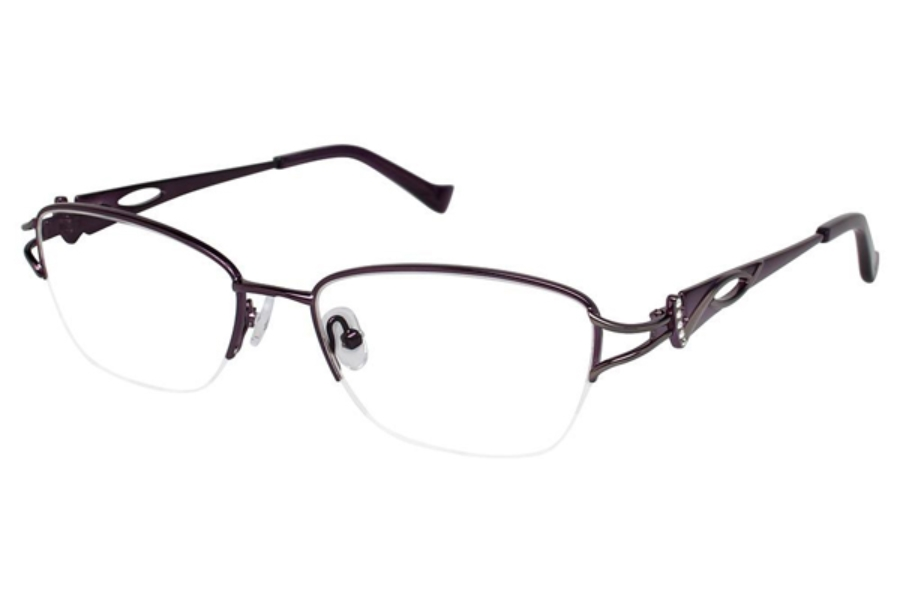 Tura R539 Eyeglasses in EGG Eggplant