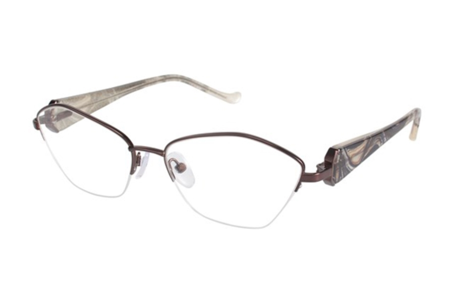 Tura R545 Eyeglasses in DBR Brown