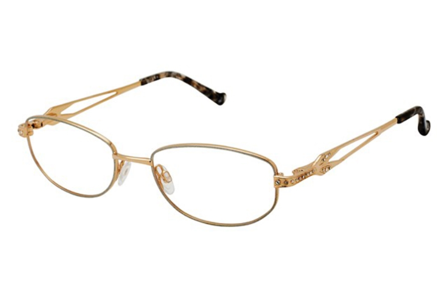 Tura R552 Eyeglasses in SIL Silver/Gold