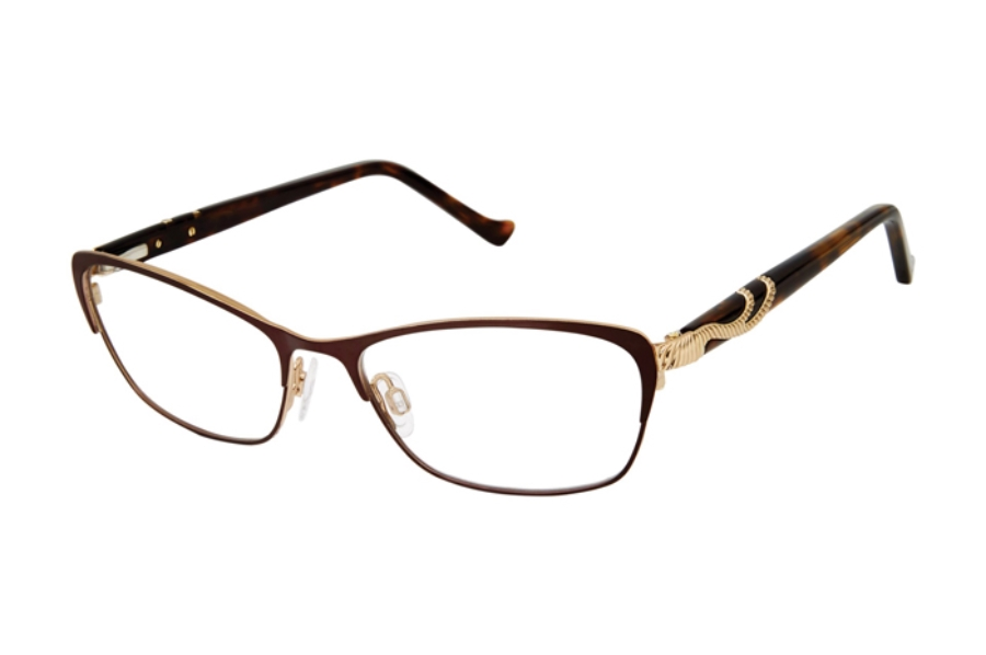 Tura R555 Eyeglasses in DBR Dark Brown