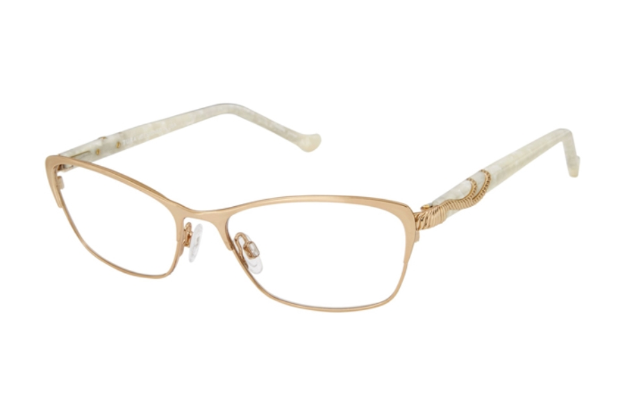 Tura R555 Eyeglasses in GLD Gold
