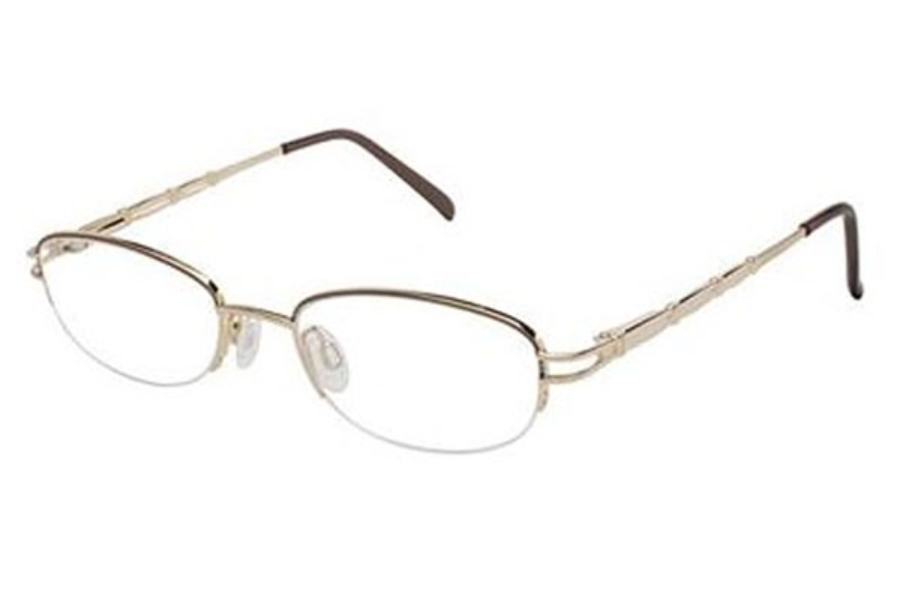 Tura TE203 Eyeglasses in Brown (BRN)