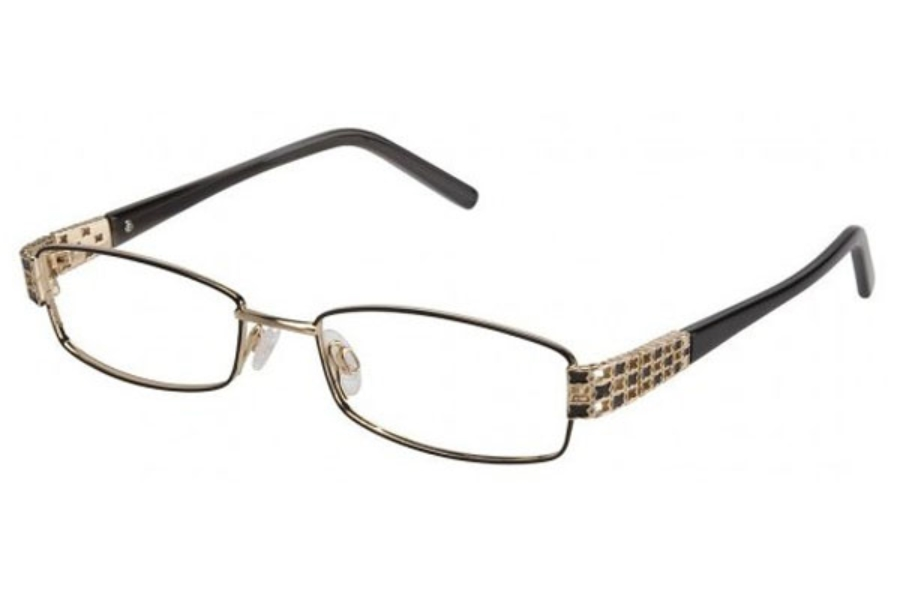 Tura TE204 Eyeglasses in Brown/Gold