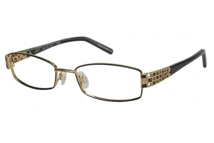 Tura TE204 Eyeglasses in Ebony/Gold