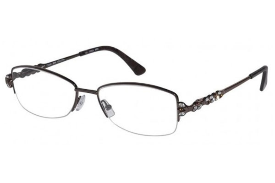 Tura TE209 Eyeglasses in Brown w/ Brown Enamel