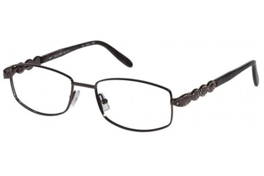 Tura TE210 Eyeglasses in Brown w/ Brown Enamel