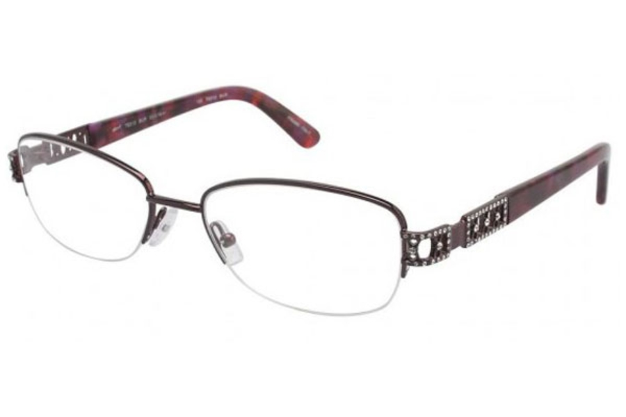 Tura TE212 Eyeglasses in Burgundy