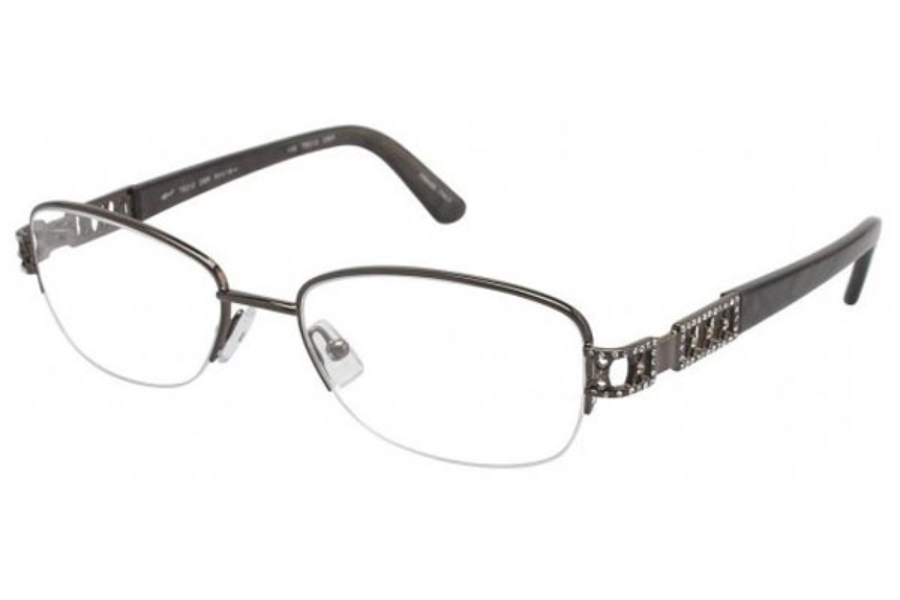 Tura TE212 Eyeglasses in Dark Brown