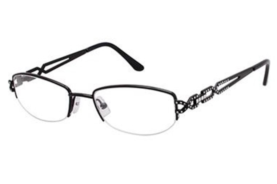 Tura TE227 Eyeglasses in BLK Black