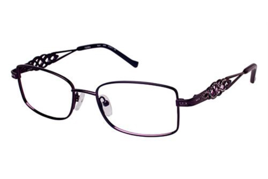 Tura TE231 Eyeglasses in EGG Eggplant