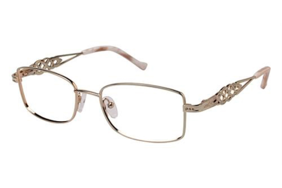 Tura TE231 Eyeglasses in GLD Gold