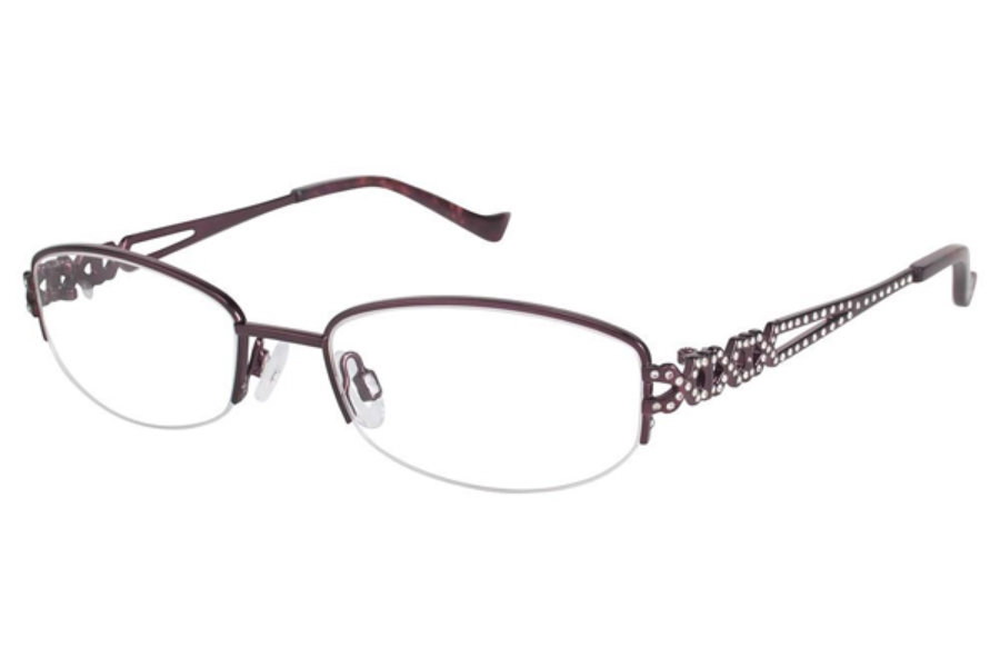 Tura TE243 Eyeglasses in BUR Burgundy