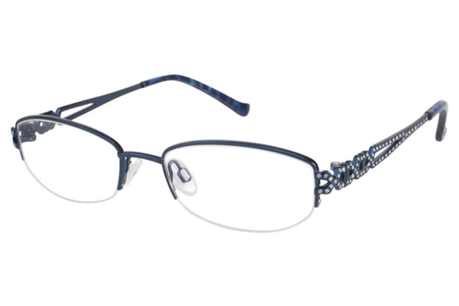 Tura TE243 Eyeglasses in NAV Navy