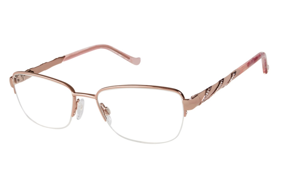 Tura TE257 Eyeglasses in RGD Rose Gold