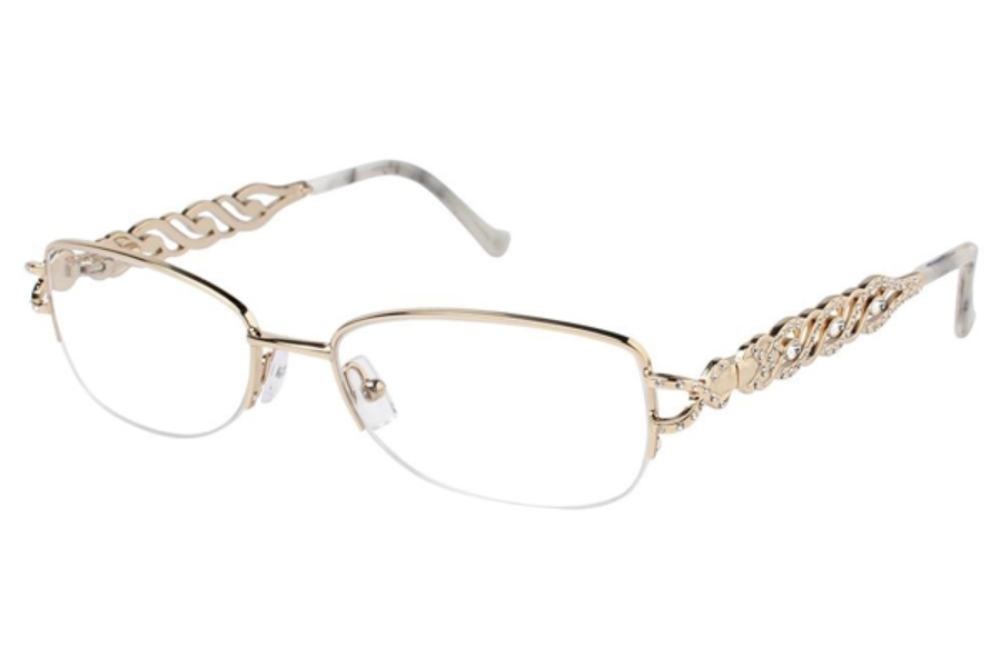 Tura X235 Eyeglasses in GLD Gold