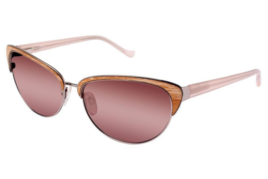 Tura 053 Sunglasses in SAN Sand / Light brown wood