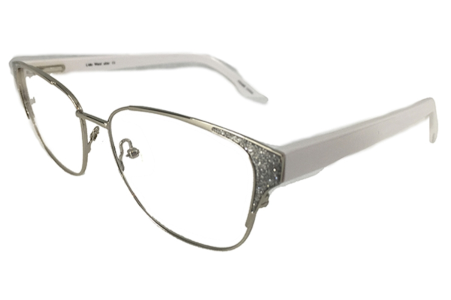 Uber Cadillac Eyeglasses in Silver/White