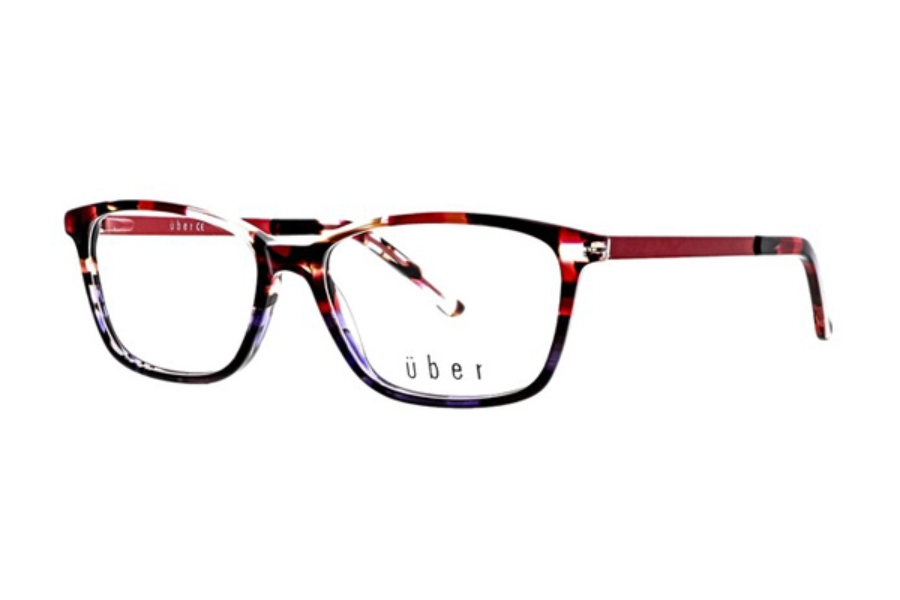 Uber Kia Eyeglasses in Burgundy