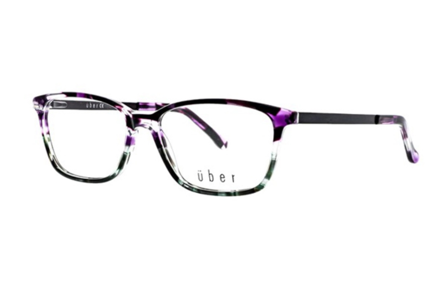 Uber Kia Eyeglasses in Purple Green