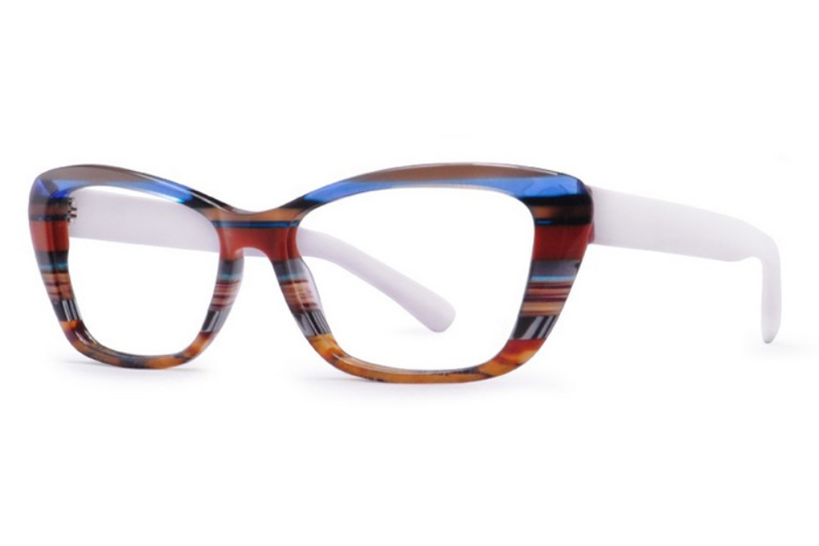 Ultra Limited Aosta Eyeglasses in Blue/White