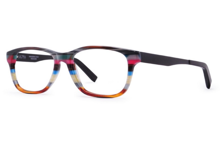 Ultra Limited Como Eyeglasses in Grey Black