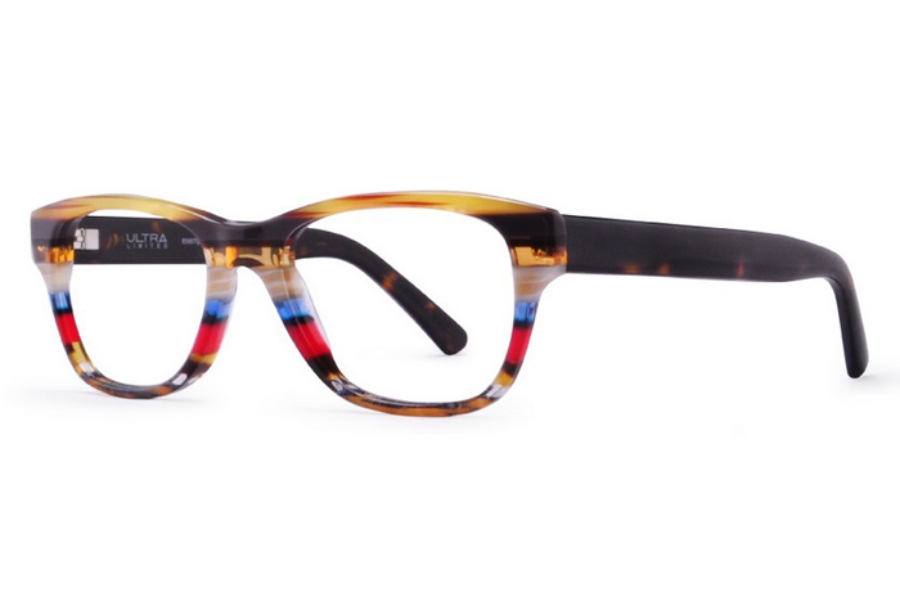 Ultra Limited Firenze Eyeglasses in Cream Red/Brown