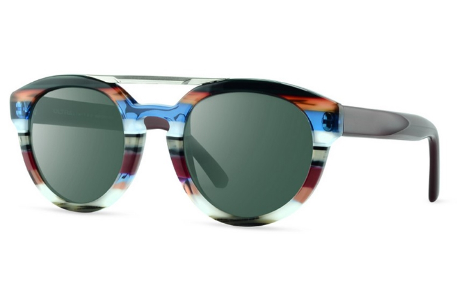 Ultra Limited Gorgona Sunglasses in Black Blue/Grey