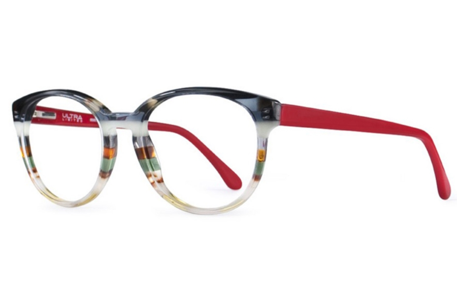 Ultra Limited Modena Eyeglasses in Black White/Red