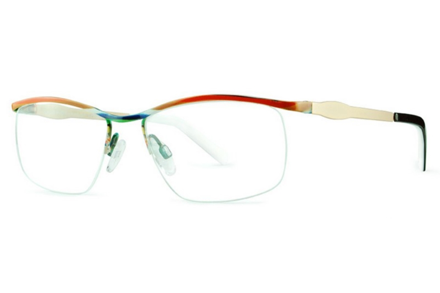 Ultra Limited Padova Eyeglasses in Red/White