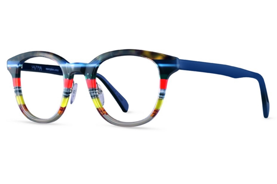 Ultra Limited Pompei Eyeglasses in Blue Red Grey