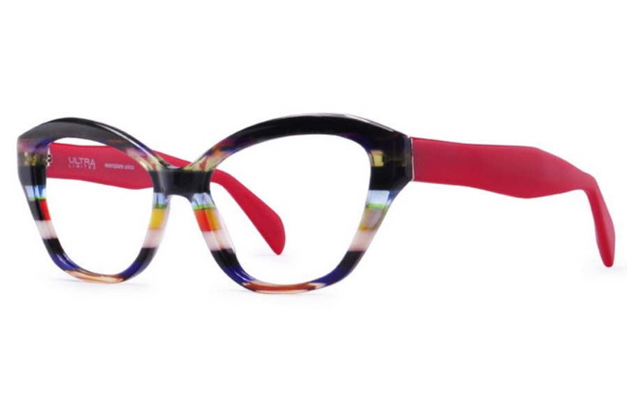 Ultra Limited Portofino Eyeglasses in Black Red