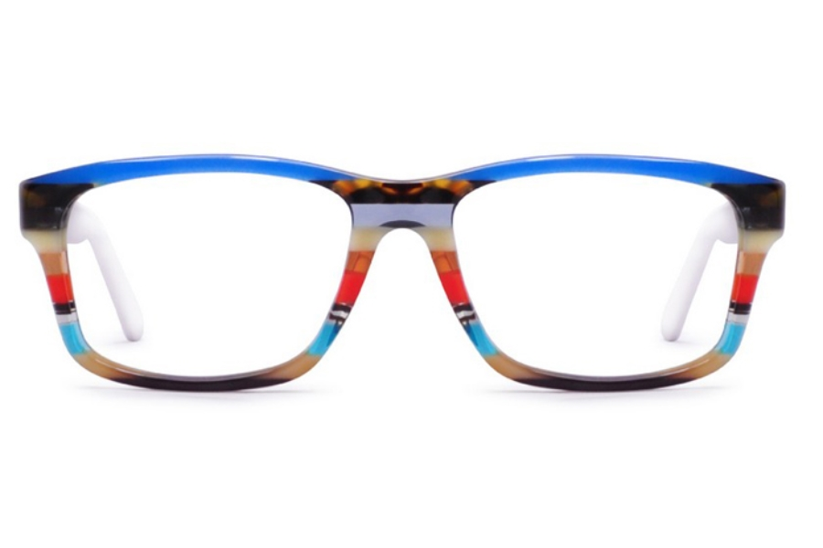 Ultra Limited Roma Eyeglasses in Blue/Brown