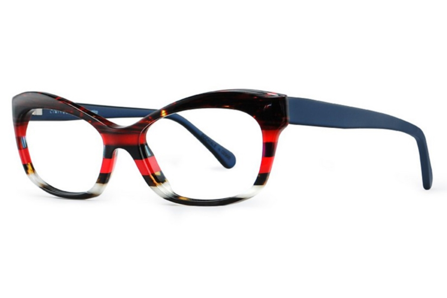 Ultra Limited Siena Eyeglasses in Brown Red/Blue