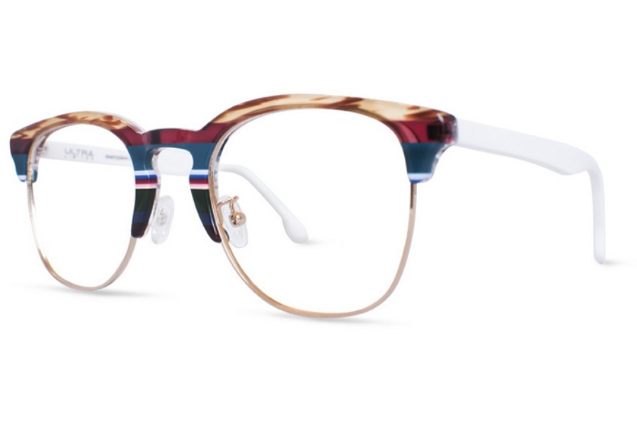 Ultra Limited Trento Eyeglasses in Brown Purple
