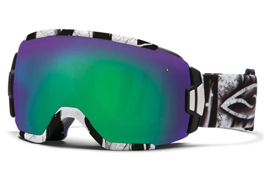 Smith Optics Vice Continued I Goggles in Charcoal Batik / Green Sol-X Mirror