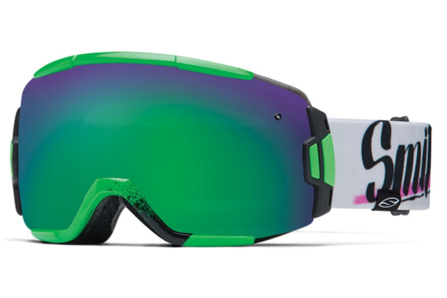 Smith Optics Vice Continued I Goggles in NEON BARON VON FANCY Green Sol-X Mirror