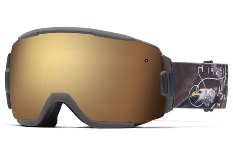 Smith Optics Vice Continued I Goggles in SCREAMING EAGLE Gold Sol-X Mirror