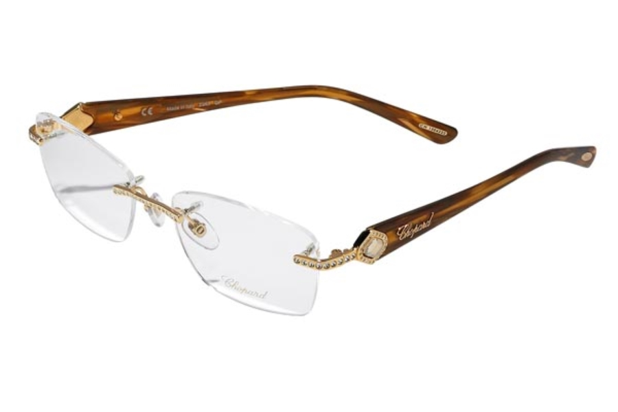 Chopard VCH A33 Eyeglasses in VCH A33-300X Amber-Gold (GP 23kt.)/Stones