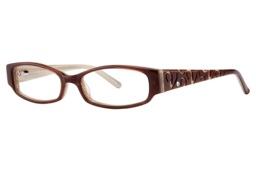 Vivid Boutique VIVID Boutique Petite 6002 Eyeglasses in 37 Toffee/Cream