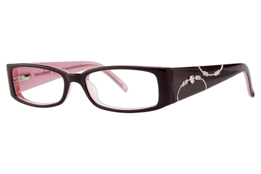 Vivid Boutique VIVID Boutique 4016 Eyeglasses in 24 Burgundy/Pink