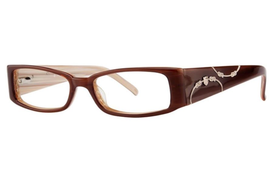 Vivid Boutique VIVID Boutique 4016 Eyeglasses in 37 Toffee/Cream