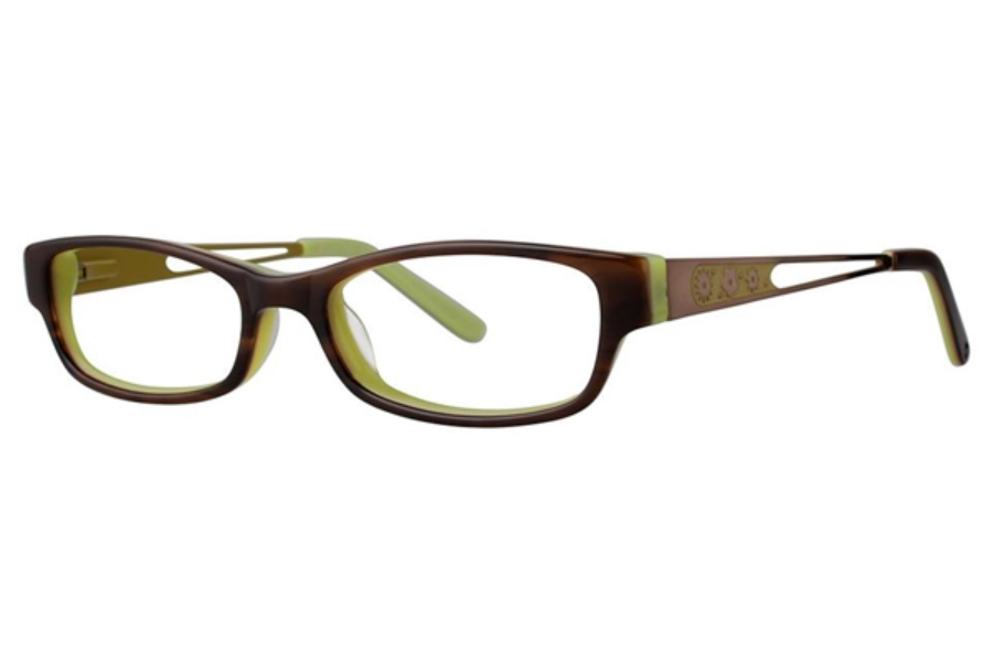Vivid Kids Vivid Kids 133 Eyeglasses in Brown/Green