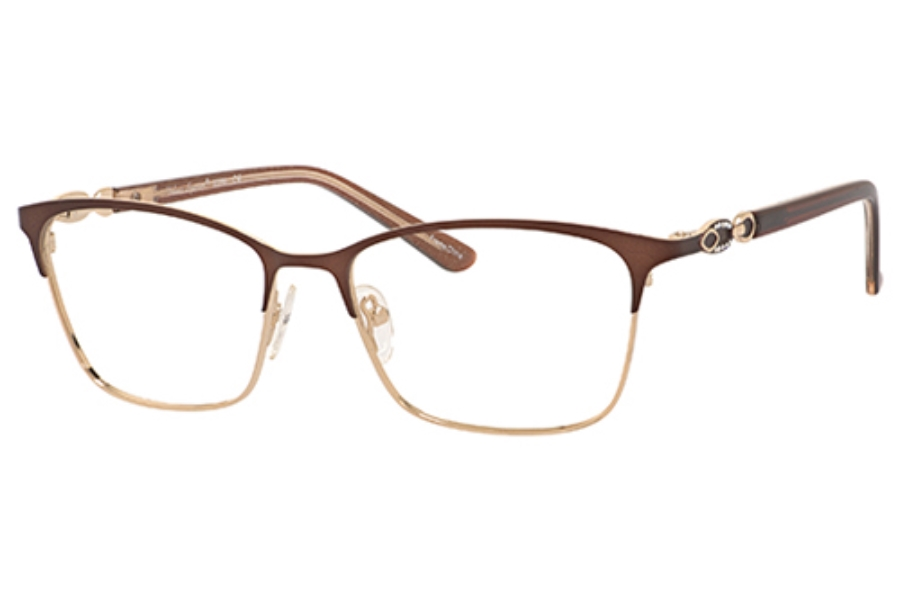 Valerie Spencer 9366 Eyeglasses in Brown/Gold