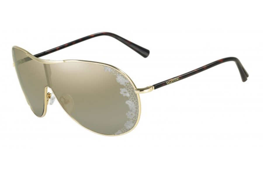 a997d2e0e59 Valentino V100S Sunglasses in 717 GOLD ...