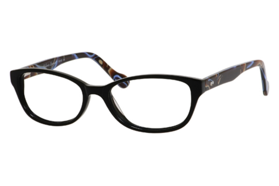 Valerie Spencer 9315 Eyeglasses in Black/Sapphire (Discontinued)