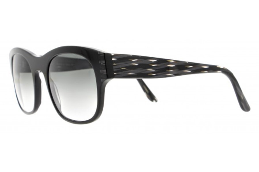 Vanni VS3001 Sunglasses in A711 Solid Black/ Black Wired