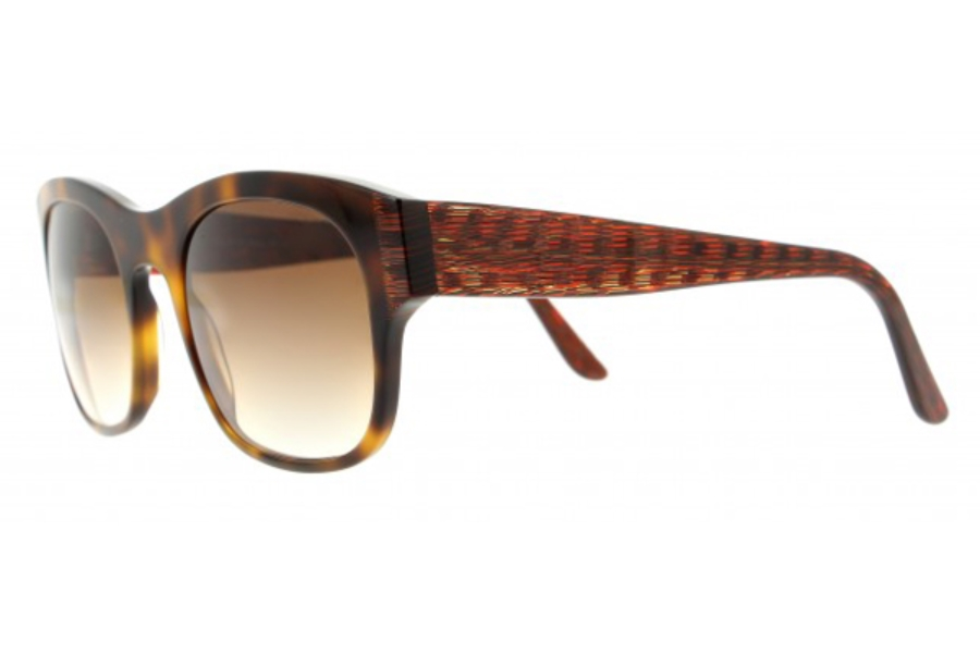 Vanni VS3001 Sunglasses in A936 Havana/ Brown Orange Raster