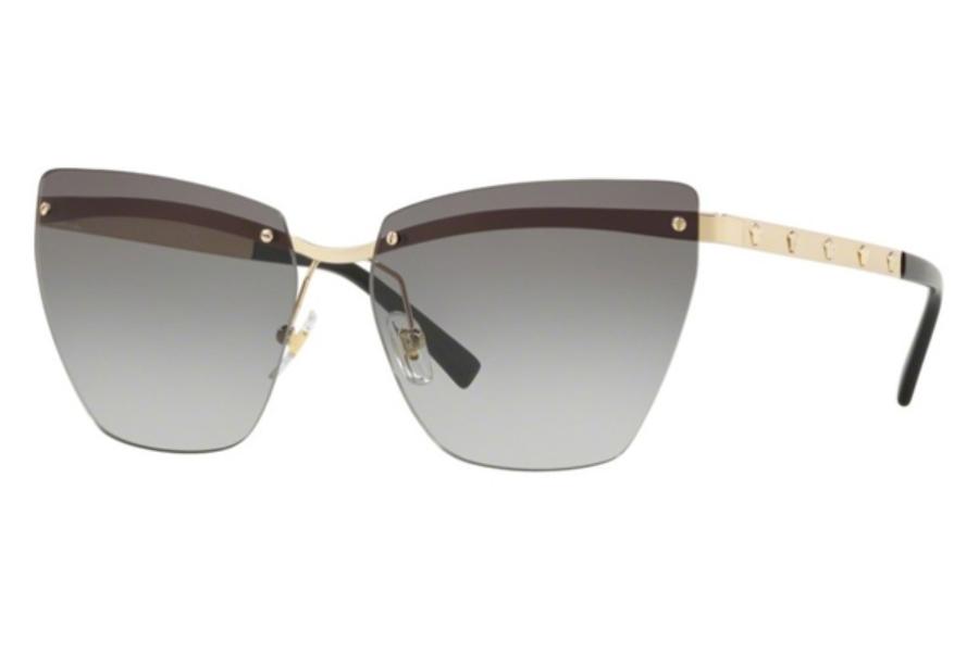 Versace VE2190-12526E PALE GOLD grad light brown mirror 58mm Women/'s Sunglasses