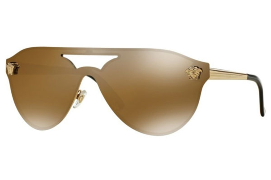 Versace VE 2161 Sunglasses in 1002F9 Gold / Brown Mirror Gold